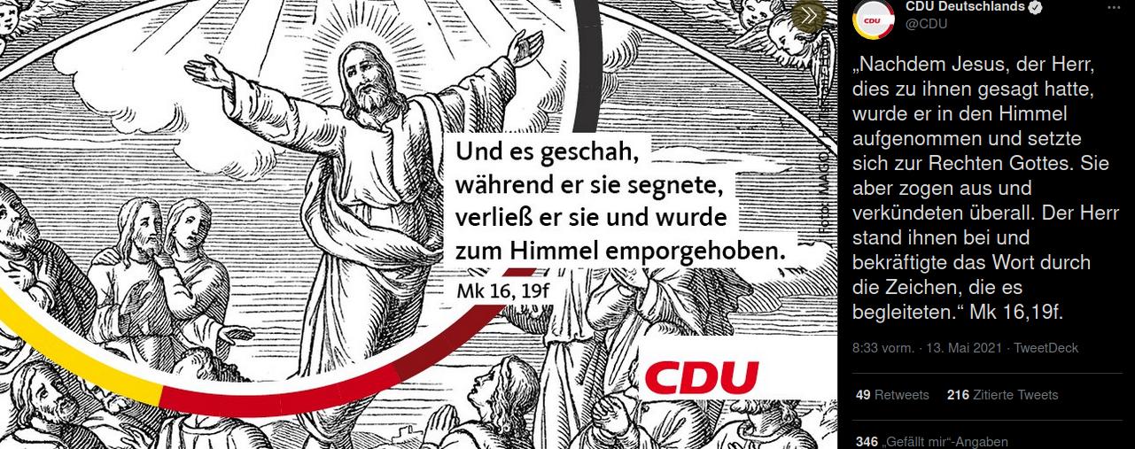 CDU_Twitter. Screenshot: bb. @CDU